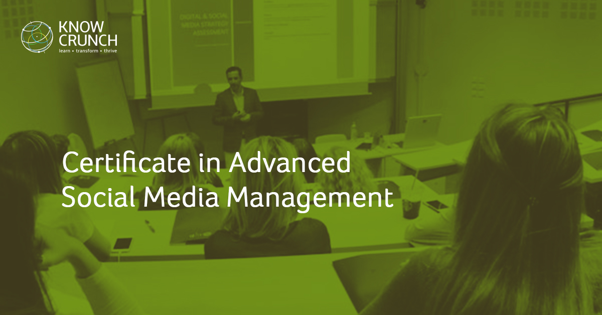 Certificate in Advanced Social Media Management